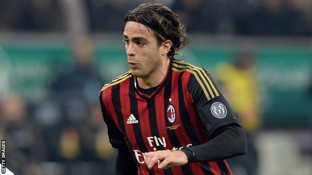 AC Milan striker Alessandro Matri