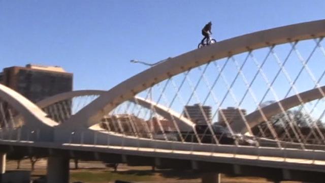 Stunt rider Mat Olson