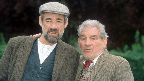 Roger Lloyd Pack and Trevor Peacock in The Vicar of Dibley