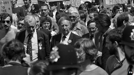 Arthur Scargill on NUM march