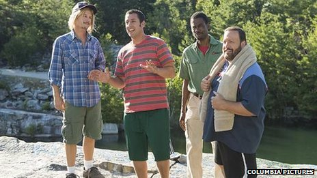 David Spade, Adam Sandler, Chris Rock and Kevin James in Grown Ups 2