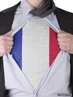 Man wearing French vest under suit