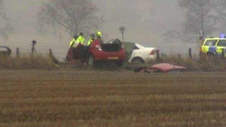 Crash scene