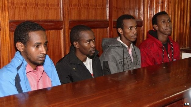 Suspects in court in Nairobi, Kenya (4 Nov 2013)