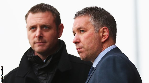 Darragh MacAnthony and Darren Ferguson
