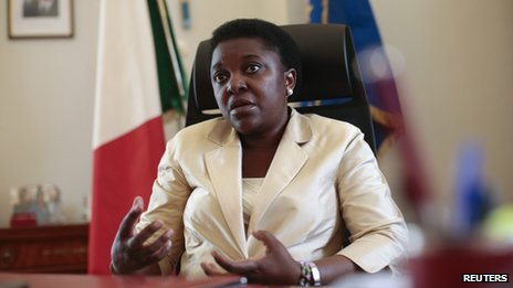 Italian Minister for Integration Cecile Kyenge in her office in Rome