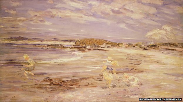William McTaggart's Macrihanish, Bay Voyach, oil on canvas (Pic courtesy of Fleming Wyfold Foundation and Bridgeman Art Library)