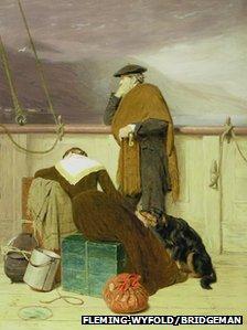 John Watson Nicol's Lochaber No More (Pic courtesy of Fleming Wyfold Foundation and Bridgeman Art Library)