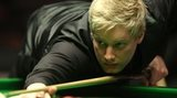 Neil Robertson in action against Mark Allen