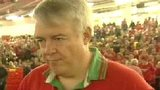 Carwyn Jones in a Wales rugby shirt