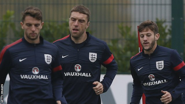 Southampton's Jay Rodriguez, Rickie Lambert and Adam Lallana on England duty