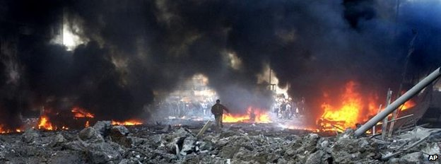 Car bombing in Beirut, Feb 2005