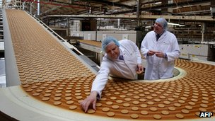 McVities production line in Stockport