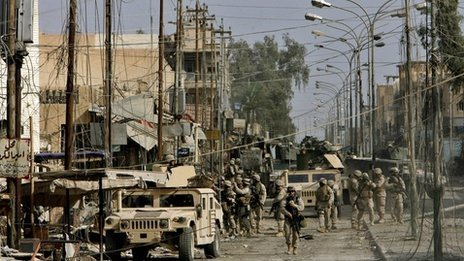 US marines in Fallujah, Iraq, 2004