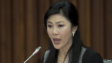 Thai PM Yingluck Shinawatra, Jan 2014