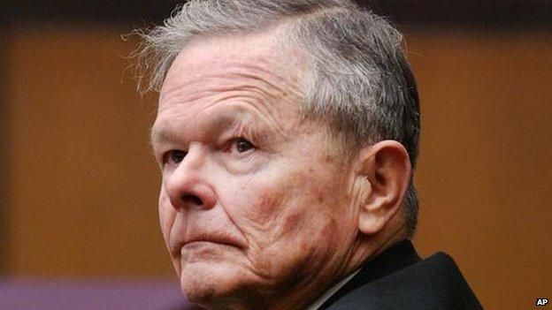 US paedophile priest John Geoghan - in court in 2002