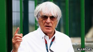 Bernie Ecclestone before the start of the Brazilian Formula One Grand Prix on November 24, 2013 in Sao Paulo, Brazil