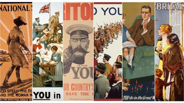 A compilation of recruitment posters