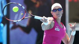 Sam Stosur of Australia in action
