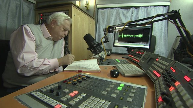 John Simpson in recording studio