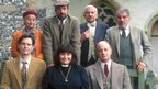 Roger Lloyd Pack with the cast of The Vicar of Dibley