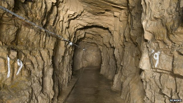 Image of a tunnel at Inchindown