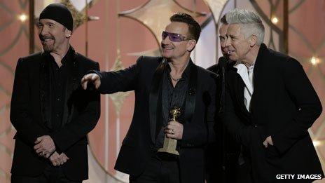 U2 at the Golden Globes