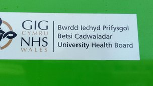 Betsi Cadwaladr University Health Board sign