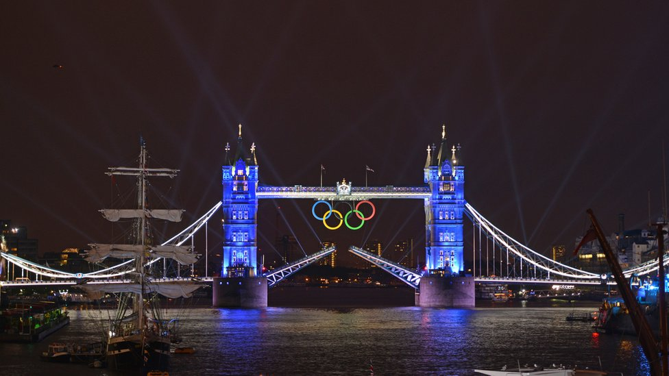 Tower Bridge during the Olympics