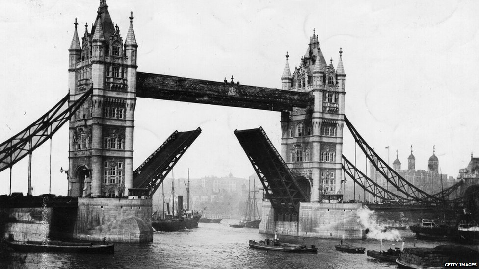 Tower Bridge in 1895