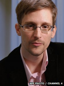 An undated photo of Edward Snowden