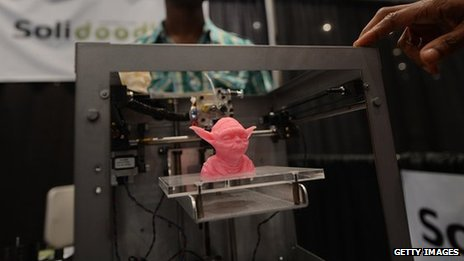 A Star Wars character printed on a 3D printer