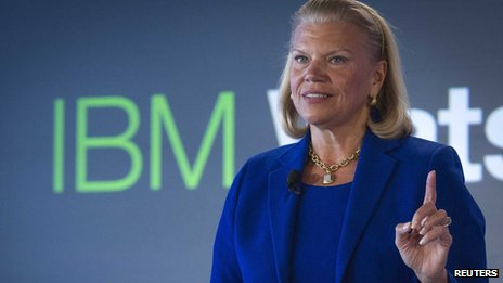 IBM boss Ginni Rometty giving a speech