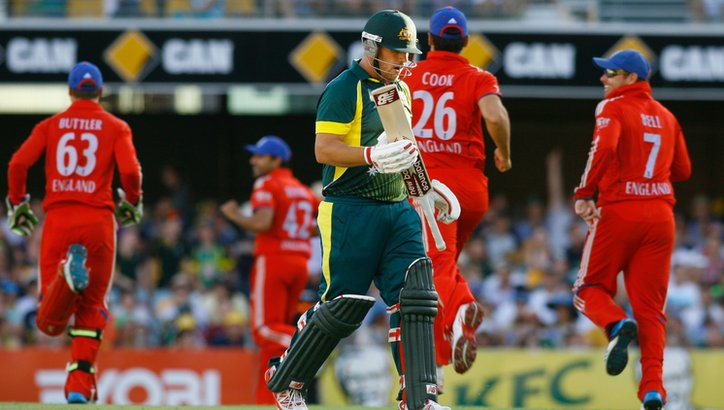 Aaron Finch is dismissed
