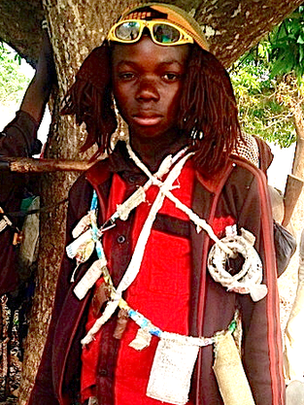 Anti-balaka child fighter