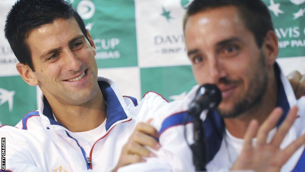 Novak Djokovic and Viktor Troicki