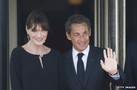 Carla Bruni and Nicolas Sarkozy