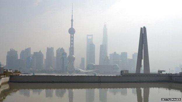 Shanghai business district