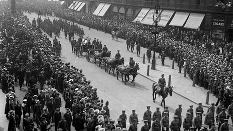 Edith Cavell's funeral in London 1919