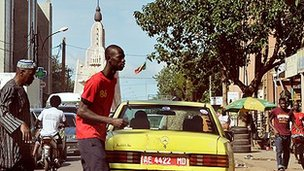 Street scene in Malian capital Bamako