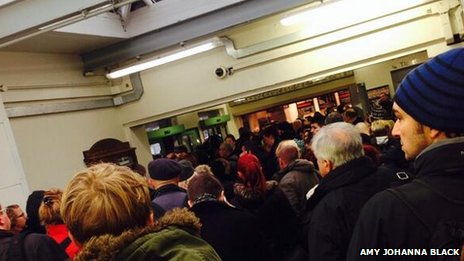 People waiting at Haywards Heath station