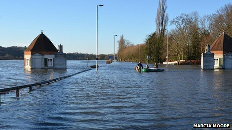 Flooding at Runnymede, Surrey