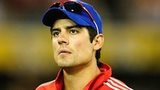 A stunned England captain Alastair Cook after the one-wicket defeat against Australia in Brisbane