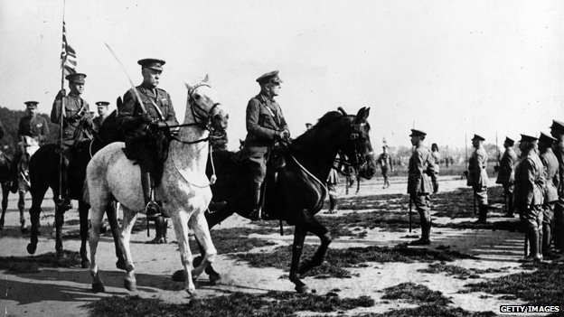 Generals on horseback. Image from http://www.bbc.co.uk/news/magazine-25776836