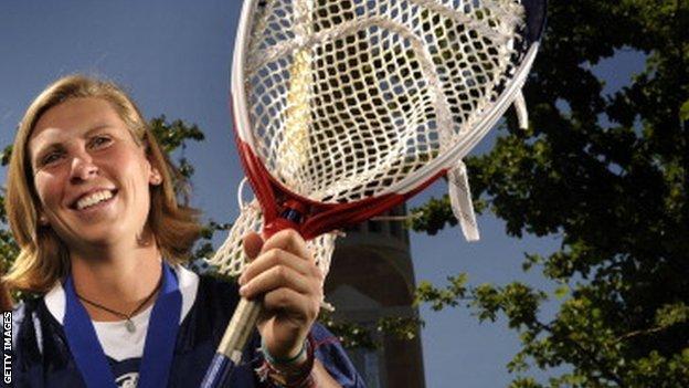 Female Lacrosse player Devon Wills