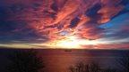 Sunrise over Berwick Law