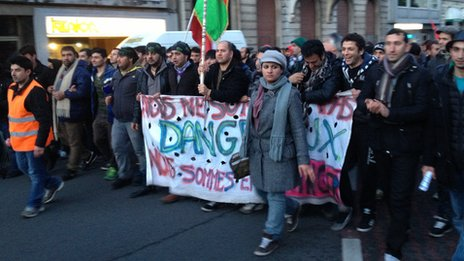 Afghan asylum seekers protest in Belgium