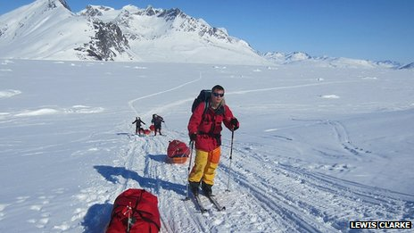 Lewis Clarke, training in Greenland