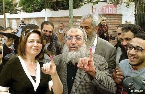Ilham Shahin 'pictured' next to Al-Birhami