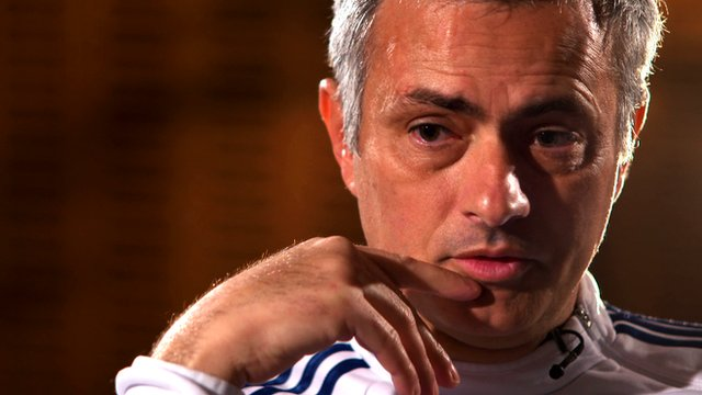 "Jose Mourinho tells BBC Sport's Dan Walker he is ""still the happy one"""